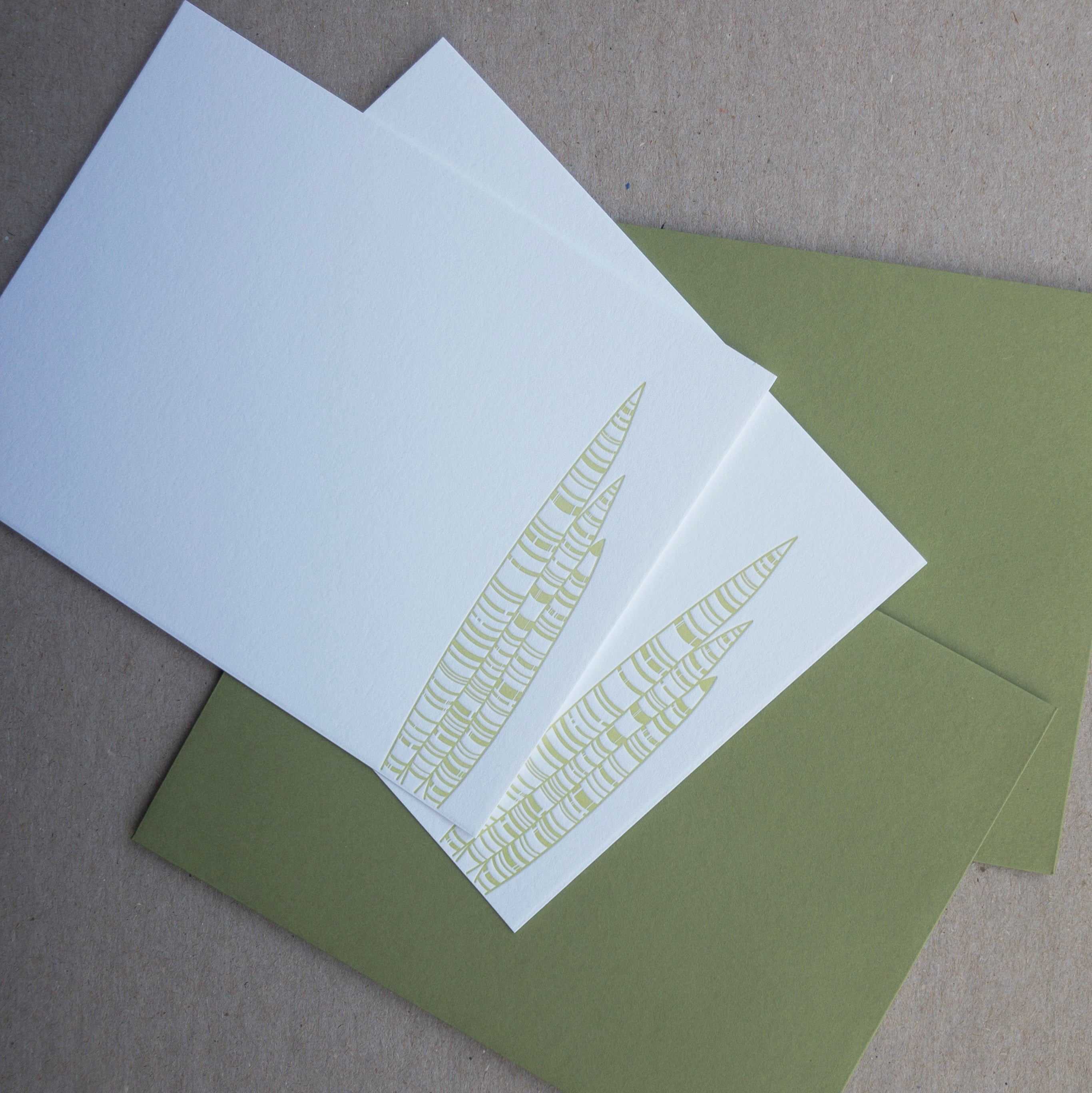 Snake Plant Flat Cards | Letterpress Notecard set