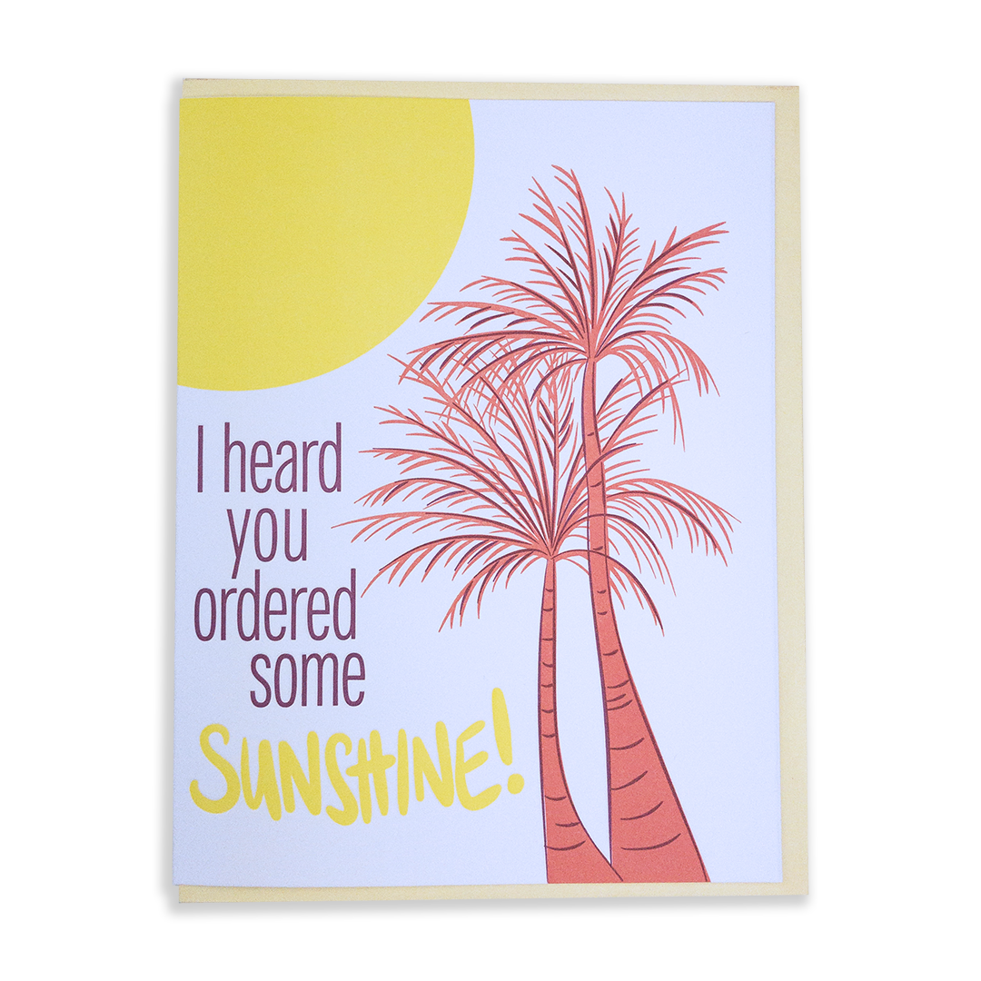 Sunshine on a cloudy day | Greeting Card