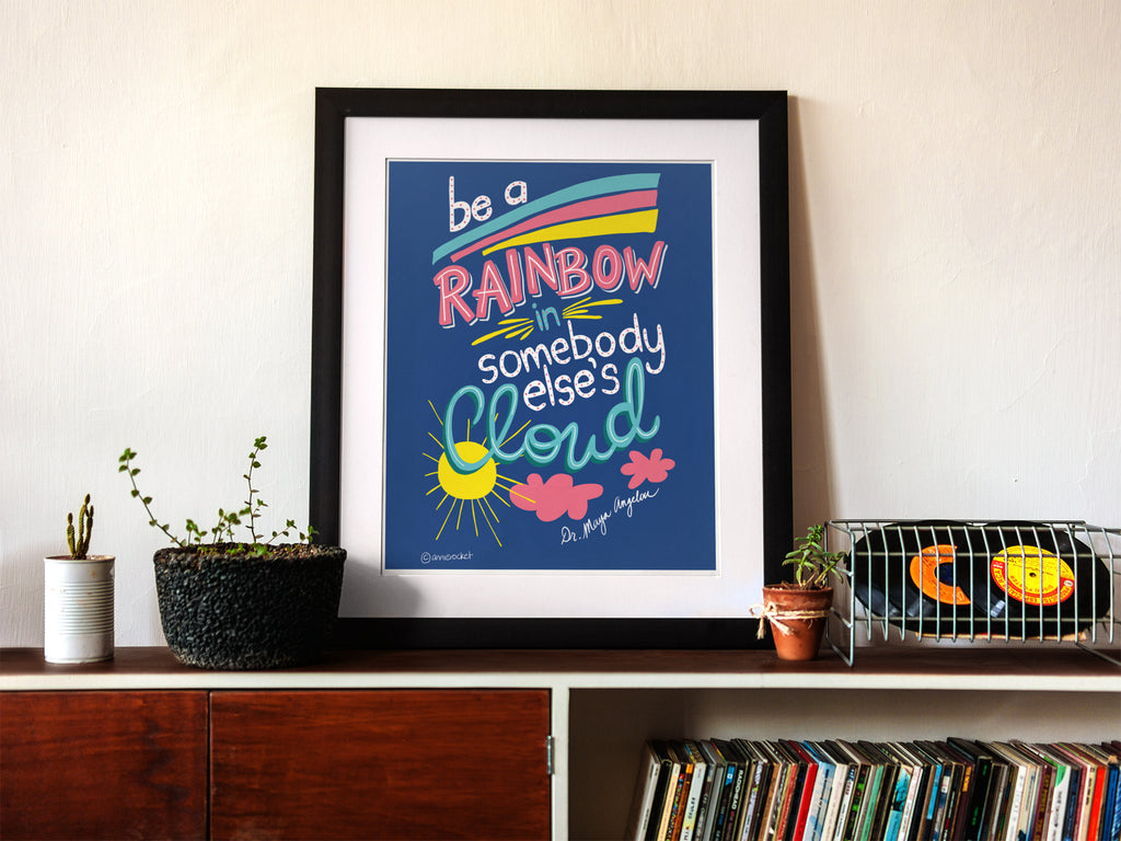 Be a Rainbow | Art Print | Digital Download