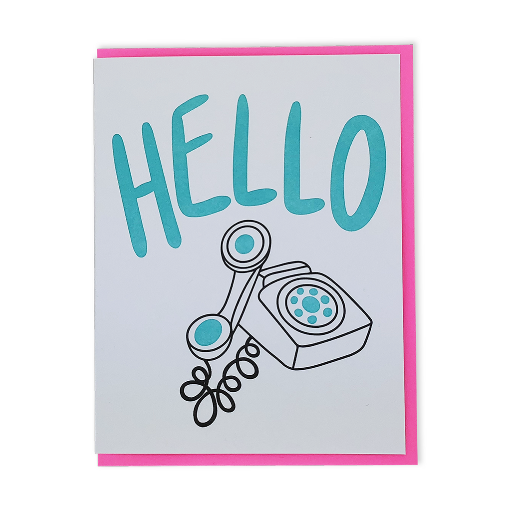 Saying Hello! | Letterpress greeting card