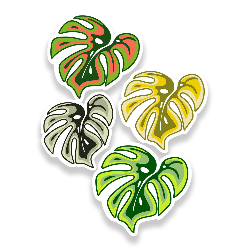 Monstera Leaf Sticker Pack | Cute Stickers