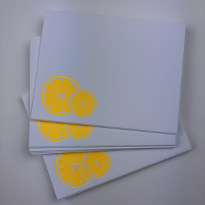Orange Slice Flat card | Notecard Set