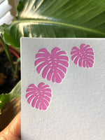 Monstera Leaf Note Cards (Solid) | Notecard set