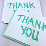Thank You! | Letterpress Greeting Card