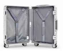 Metal Travel Suitcase Universal Wheel - SILVER 20''