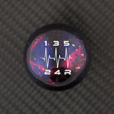 Purple Cosmic Space - 5 Speed Heartbeat Engraving - Cobalt SS Fitment