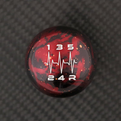 Red Cosmic Space - 5 Speed Heartbeat Engraving - Nissan Fitment