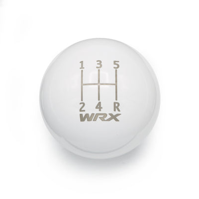 Gloss White Weighted - 5 Speed WRX Engraving - 5 Speed WRX Fitment