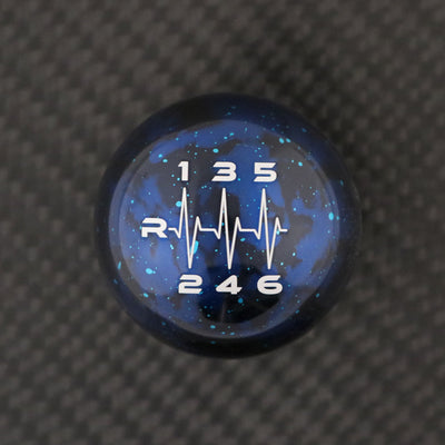 Blue Cosmic Space - 6 Speed Heartbeat Engraving - Juke Nismo & Sentra SR Turbo/Nismo Fitment