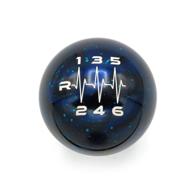 Blue Cosmic Space - 6 Speed Heartbeat Engraving - ST/RS Fitment