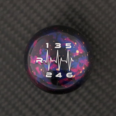 Purple Cosmic Space - 6 Speed Heartbeat Engraving - Mazda Fitment