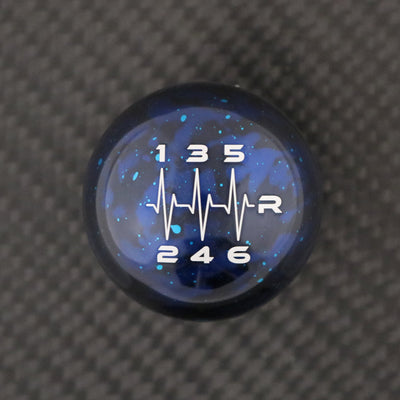 Blue Cosmic Space - 6 Speed Heartbeat Engraving - Nissan Fitment