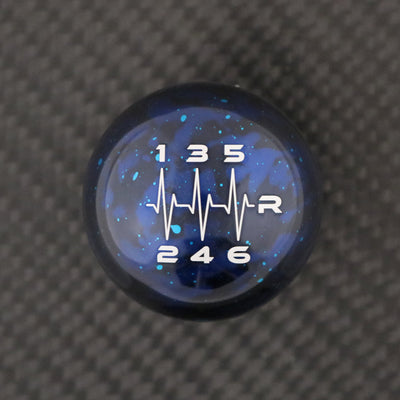Blue Cosmic Space - 6 Speed Heartbeat Engraving - 6 Speed WRX Fitment