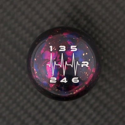 Purple Cosmic Space - 6 Speed Heartbeat Engraving - Nissan Fitment