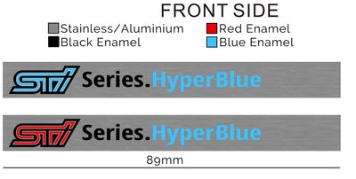 Hyper Blue STI Interior Badge