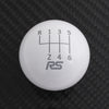 Gloss White Weighted - 6 Speed RS Engraving - ST/RS Fitment