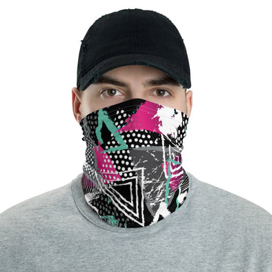 Face covering/ Neck Gaiter: Power Print