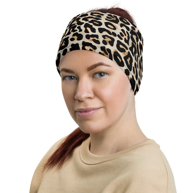 Face covering/ Neck Gaiter: Leopard