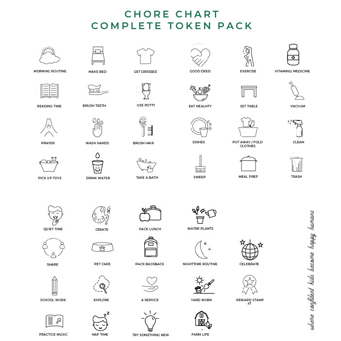 Chore Charts + Token Packs W19
