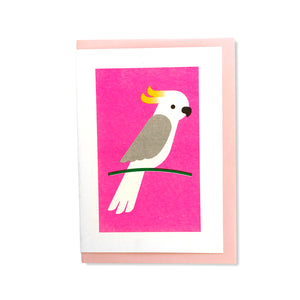 Cockatoo Greetings Card