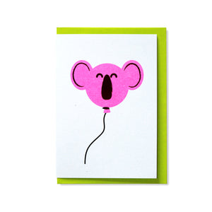 Koala Balloon Greetings Card