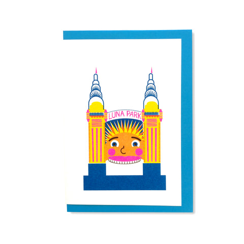 Luna Park Greetings Card