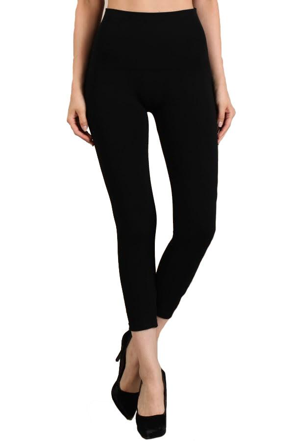 Tummy Tuck Capri Leggings - Black