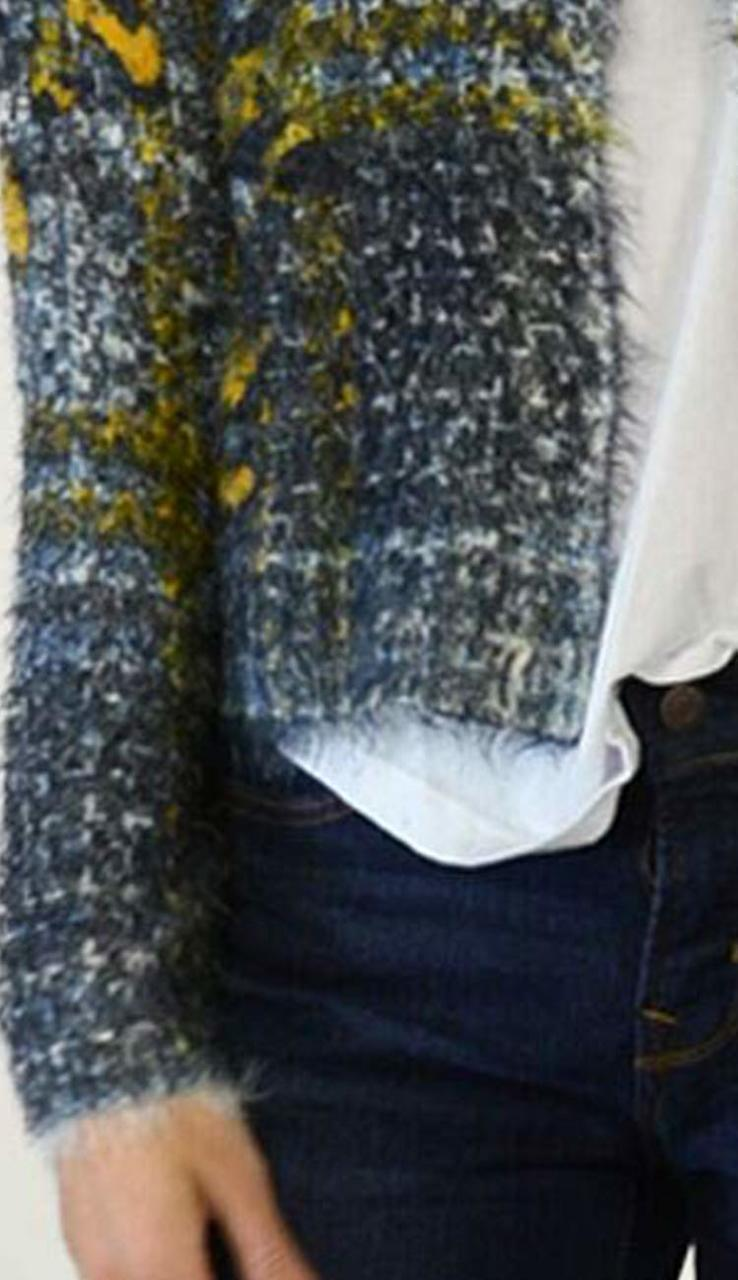 Fur Cardigan Sweater