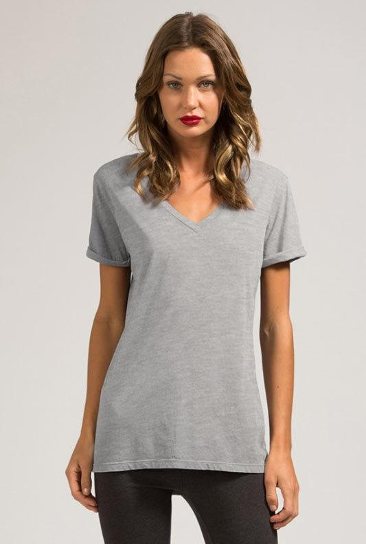 Staple Tee w/ Roll Sleeves - Heather Grey