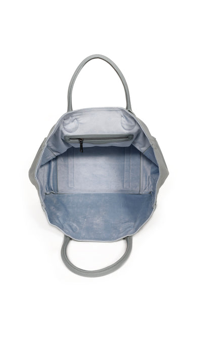 beck medium tote carlyle blue grey interior