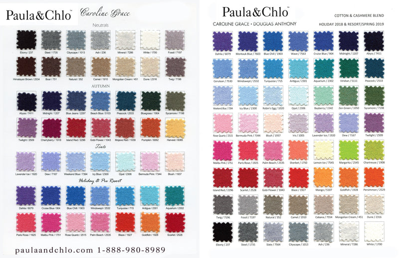 caroline grace color chart