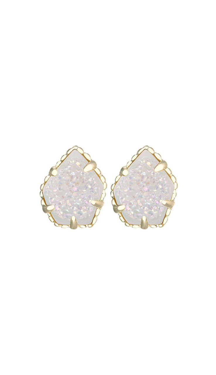 Tessa Stud Earrings - Iridescent Drusy BY KENDRA SCOTT