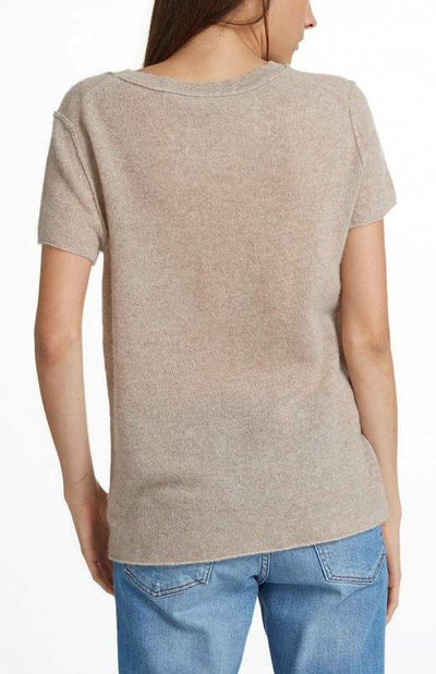 Cashmere Essential Pocket Tee - Flax Heather