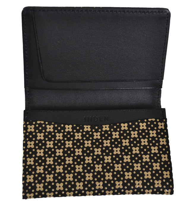 Business Card Case Flower Lattice Lacquer Black