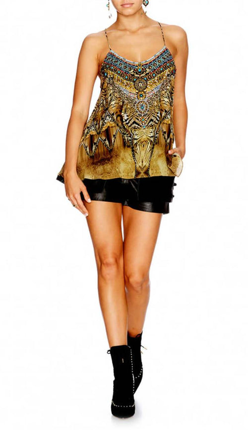 Given To The Wild T-Back Shoestring Top
