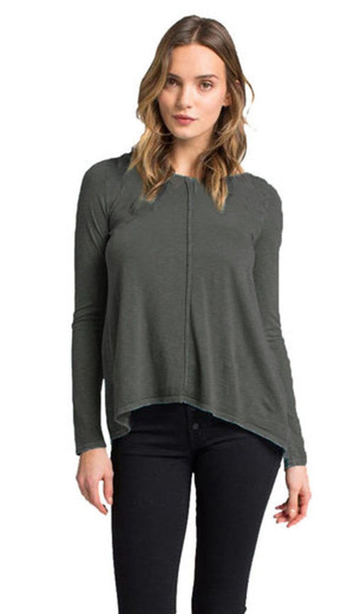 Lory Split Back T-Shirt - Peppercorn