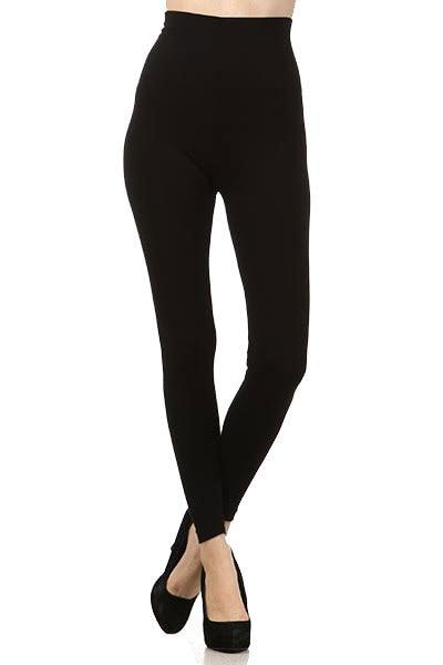 Tummy Tuck High Waist Leggings - Black