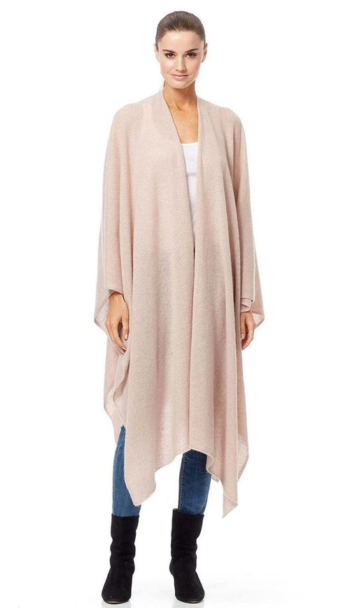 Lisa Cashmere Cape - Rose Quartz