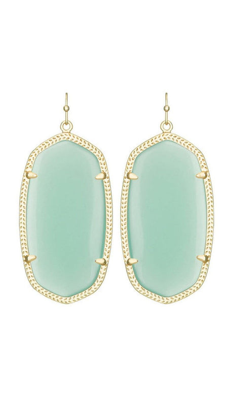 Aryssa Statement Earrings in Turquoise Zellige
