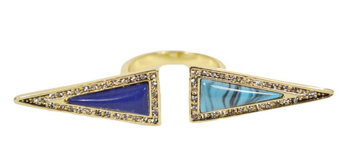 Isosceles Reflection Lapis Turquoise Ring
