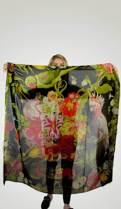 Wind and Roses Cashmere Modal Scarf