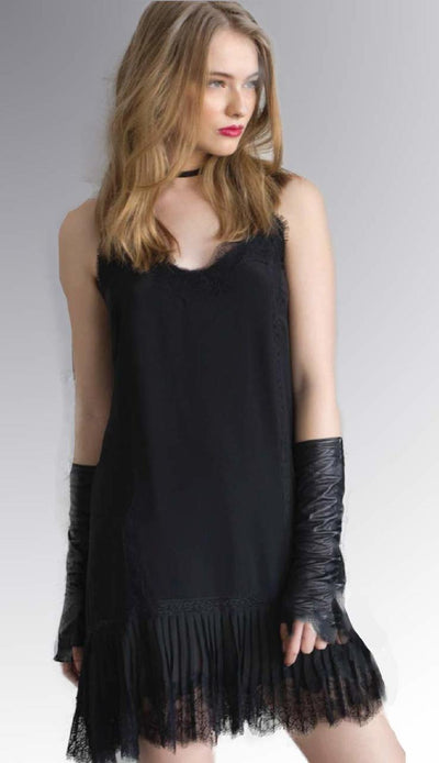 Pleated Dress - Black Night