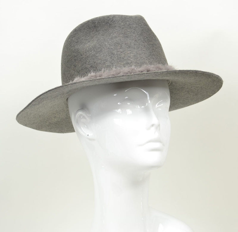 Georgina Relaxed Fedora - Heather Gray