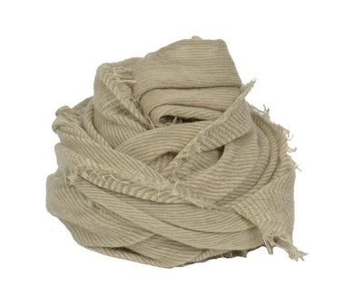 Love Scarf Soft Beige Milk Stripe
