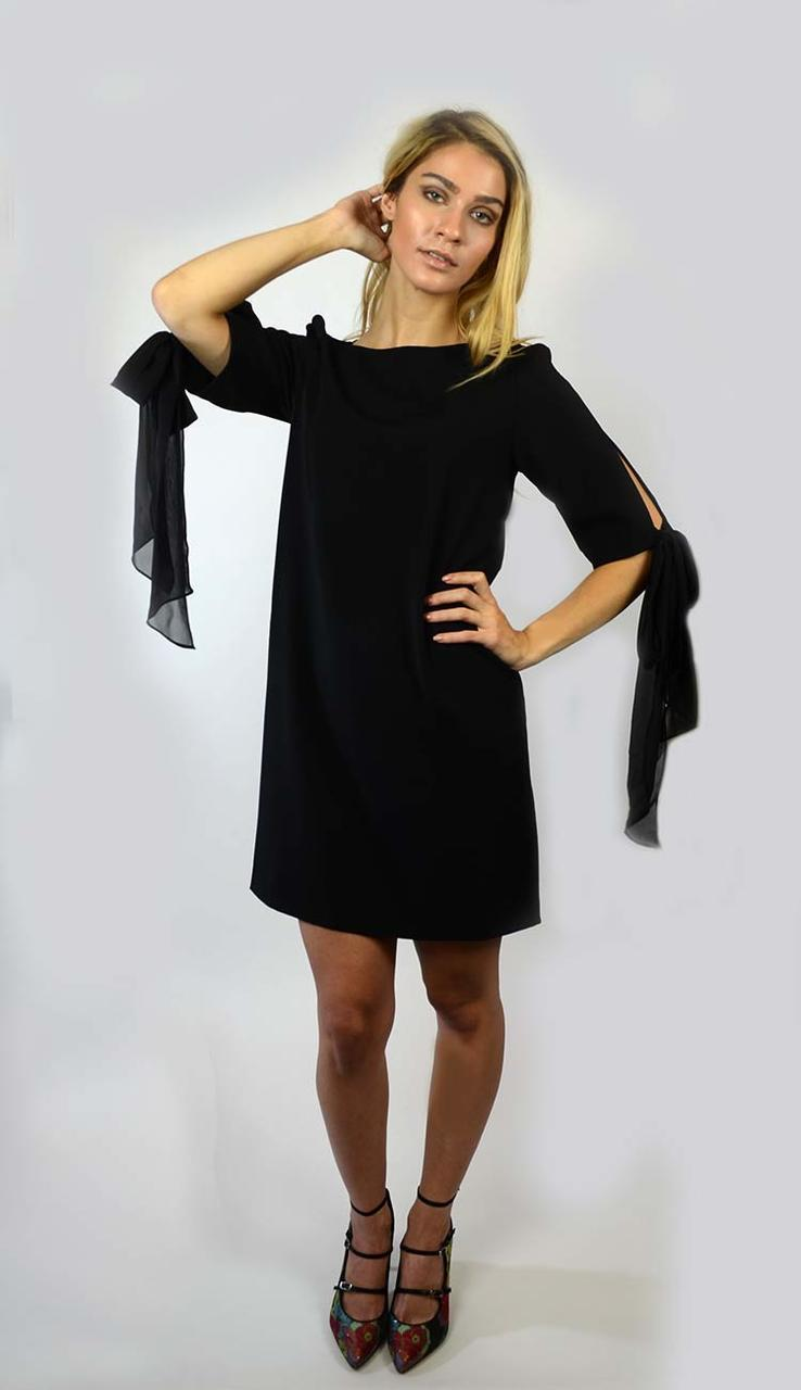 Chiffon Sack Dress - Black