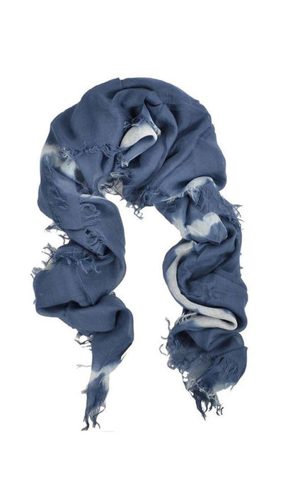 Midnight Navy Tie-Dyed Scarf  Chan Luu