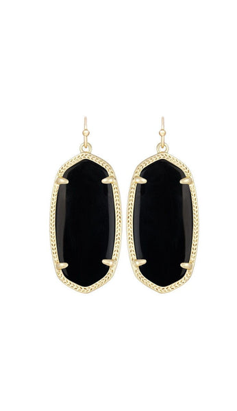 Elle Earrings - Black by kendra scott