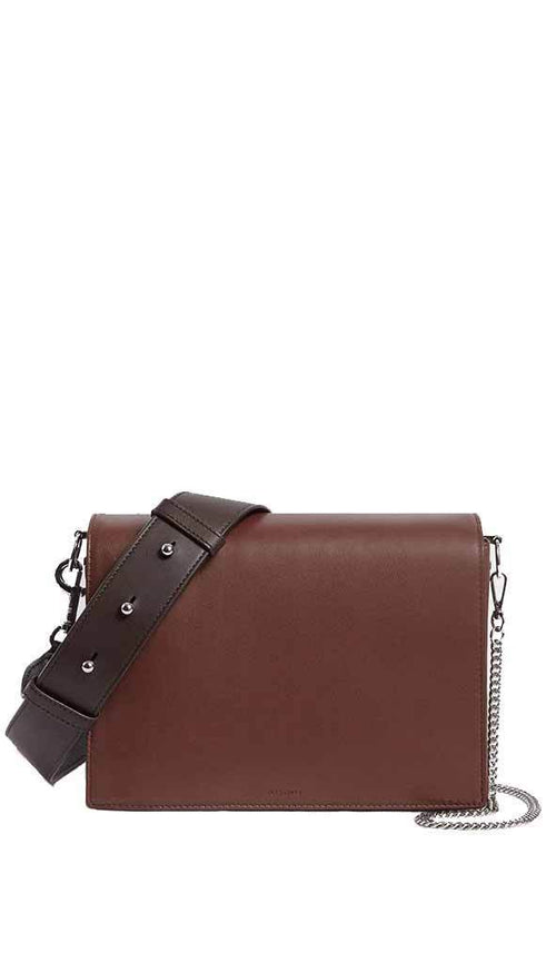 zep bag in oxblood / port burgundy from Allsaints