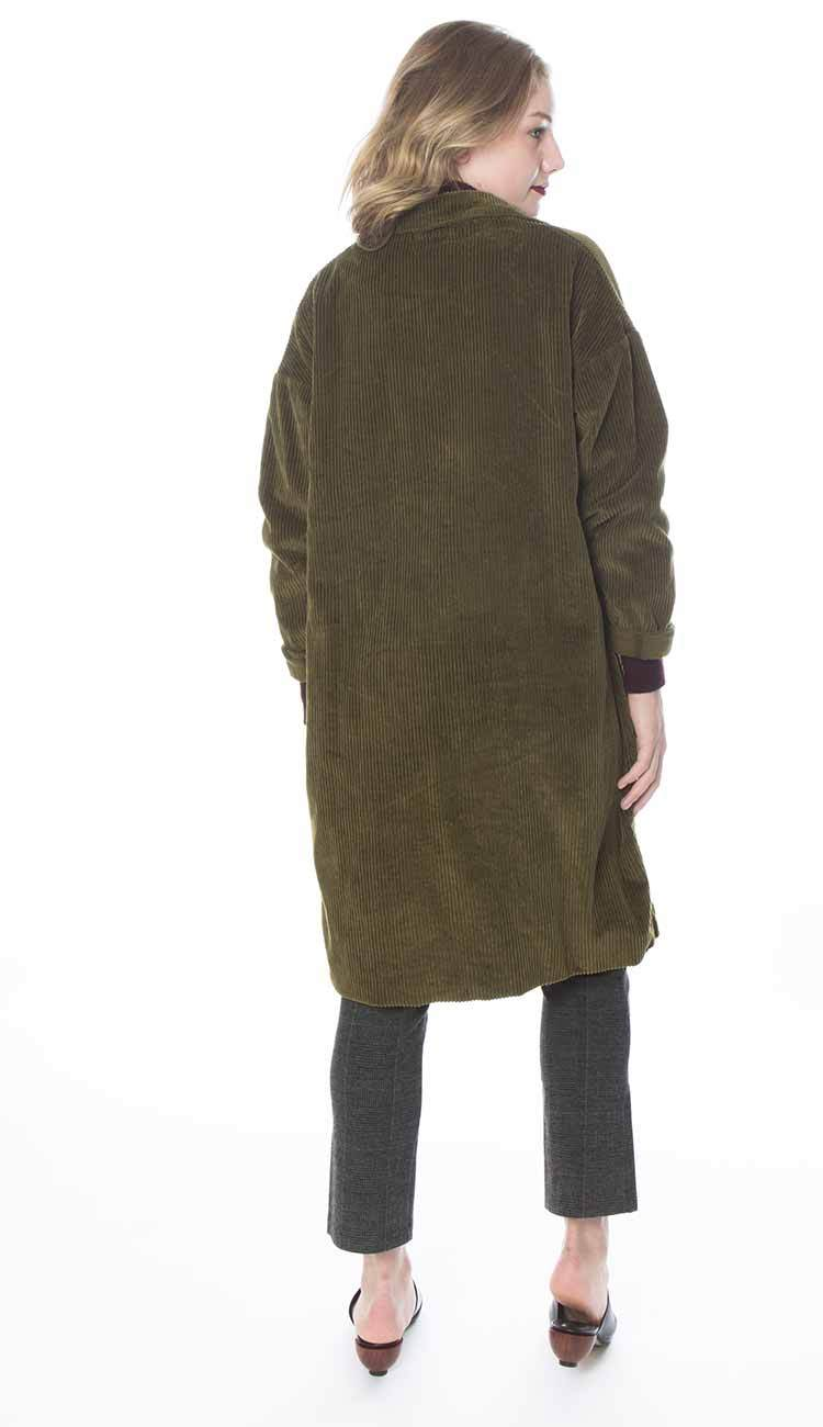 cp shades morgan coat in thyme back view