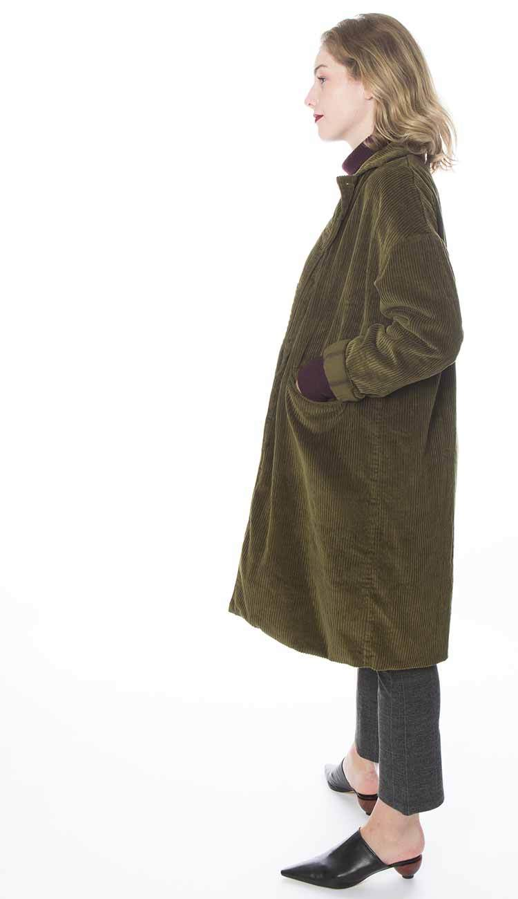 cp shades morgan coat in thyme side view